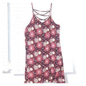 Bohemian trapeze Camisole Strap Dress
